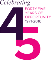 Opportunity International 45th Anniversary Logo