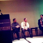 Panel (from left): Facilitator Diane Griffin (VP of program management), David Allman, Craig DeRoy and Jim Frantz.